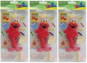 EK Sesame Street 3D Sticker Large Elmo Artist Pack of 3