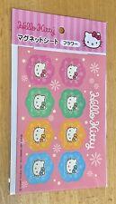 Sanrio Hello Kitty Small Magnet Sheet Flower Cute Japan Set