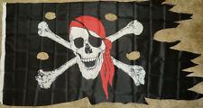 3x5 Pirate Ship Flag Battle Worn Frayed Tattered Jolly Roger Skull Crossbones