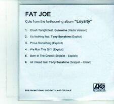 (DU549) Fat Joe, 6 track Sampler - DJ CD
