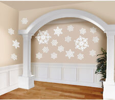 20 x Glitter Snowflake cutout decorations Disney Frozen Theme Party Decorations
