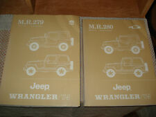 1986 JEEP WRANGLER SERVICE MANUAL SET ORIGINAL SHOP BOOKS YJ SERIES BODY ENGINE