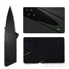 Outdoor Black Blade Sharp Handy Cardsharp Credit Card Safety Folding Knife BH4U