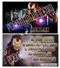 Biglietti - Inviti Compleanno personalizzati IRON MAN - AVENGERS 30 Pz