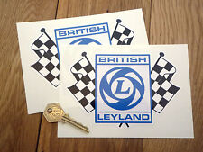 BRITISH LEYLAND CHECK FLAGS LARGE stickers SD1 6R4 TR8