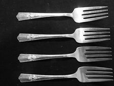 Wallace Silverplate (Harmony House) Maytime (Set of 4) Salad Forks *