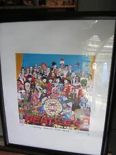 """King of pop,Nelson De La Nuez """"Lonely Hearts Club""""2007-Signed-w/animated Beatles"""