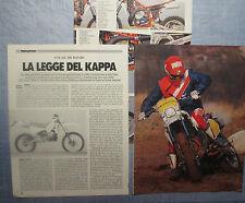 MOTOSPRINT987-PROVA / TEST-1987- KTM GS 350 ENDURO - 3 fogli