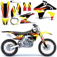 Suzuki RMZ450 Decal Graphic Kit RMZ 450 Parts Dirt Bike with Backgrounds 2007 XX