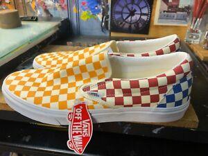 Vans Classic Slip On Checkerboard Multi Color  Size US 11.5 Men New