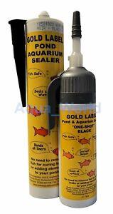 Gold Label Underwater Pond Aquarium Sealant 75ml One Shot, 290ml Black