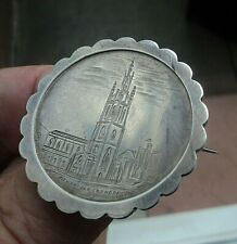 Victorian Sterling Silver Sweetheart Style Brooch h/m 1893  Newcastle Cathedral