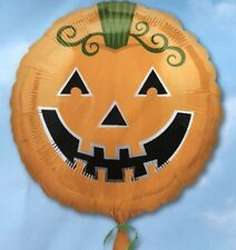 "18"" Amscan Halloween Celebration Pumpkin Foil Helium Balloon"