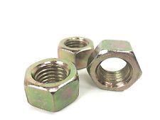 50 Stelfast 3/4-10 Grade 8 Hex Finish Nuts - Yellow Zinc Plated - Coarse Thread