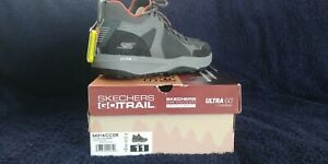 NEW Skechers Go Trail MENS SIZE 11 Jackrabbit-Charcoal/Orange Running 54914/CCOR