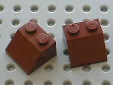 2 x LEGO RedBrown slope bricks ref 3039 / Set 7662 10144 6210 8037 8877 ...