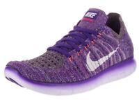 Nike Women's Shoe Free Rn Run Flyknit Purple/White 831070-503 Sz 11 NIB
