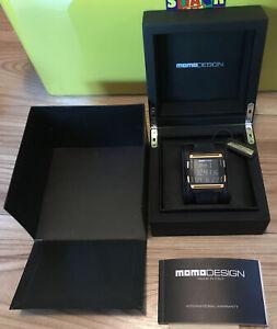 MOMO DesignDigital men's watch Box Instructions Outer Box Vgc