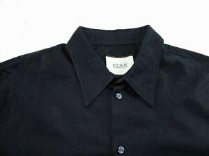 Thomas Pink of London Mens Large Navy Blue Long Sleeve Dress Shirt