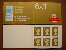 2006 GREAT BRITAIN>BAR CODED STAMP BOOKLET>RC1