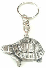 Tortoise Handcrafted From English Pewter Key Ring + Gift Bag