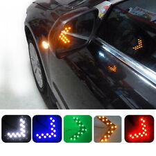 2pcs Auto SUV Arrow Green 14-SMD LED Rear Mirror Turn Signal Indicator Lights zy