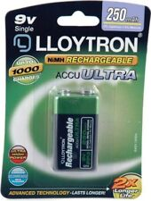 9V Rechargeable Battery - 250mAh - Lloytron NIMH AccuUltra (B018)