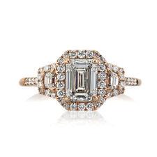 Mark Broumand 1.90ct Emerald Cut Diamond Engagement Ring