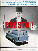 BEDFORD 6 & 8 Cwt Vans - Sales Brochure - Jul 1964 - B1061/7/64