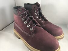 Timberland youth 6 in premium dark red boots size 2 #tboa1ad1 (206)