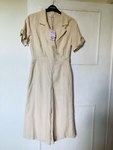 Miss Selfridge Cream Jumpsuit Brand New Petite 8