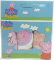 Pack Of 3 Peppa Pig Girls Briefs Knickers Ages 2-3 4-5 or 6-8 Multi Pack Set New