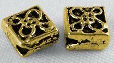 WHOLESALE - Antique Golden Tibetan 6mm Diamond Spacers/Beads (4 Sets of 100)