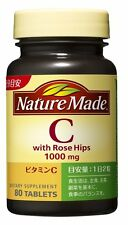 Nature Made Vitamin C Rose Hips 1000 mg 80 Tablet Release health Beauty Japan