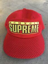 Supreme Red Mesh Hat MCMXCIV SS18 'ZigZag' 6-Panel Snap Back Baseball Cap