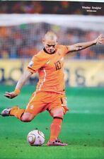 "WESLEY SNEIJDER ""KICKING SOCCER BALL"" POSTER -KNVB Netherlands National Football"