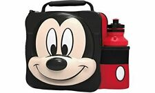 MICKEY MOUSE 3D Lunch Bag Box And Drink Sport Water Bottle Set Insulated