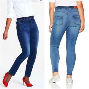 JD Williams Ladies Blue Denim Shaping Sculpting Straight Leg Jeans Size 12 - 30