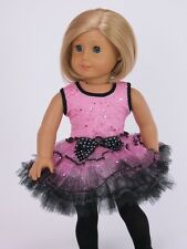 "Pink Ballerina Ballet Dress For 18"" American Girl Doll Clothes"