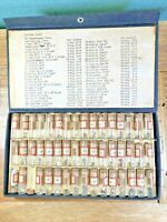 47 Glass Vials With Assorted Watch Crowns (K5038)