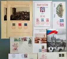Tschechoslowakei Konvolut Gedenk- Karten mit Sonderstempel