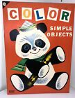 Samuel Lowe Vintage Coloring Book 1964 Simple Objects James & Jonathan Children