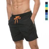 Men's Swim Trunks Beach Swimsuits Mesh Lining Quick Dry Pockets Sports Shorts