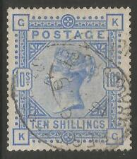STAMPS-GREAT BRITAIN. 1883. 10 Pale Ultramarine. SG: 183a. Fine Used