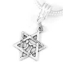 Hewbew star Jewish star Star of David Star of David Charm Only with Chai