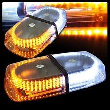 12v Dc 240 LED Oval Emergency Warning/Mini Bar Strobe Light -Amber/White -AM