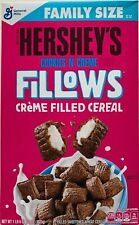 NEW HERSHEY'S COOKIES N CREME FILLOWS CEREAL 22 OZ BOX FREE WORLDWIDE SHIPPING