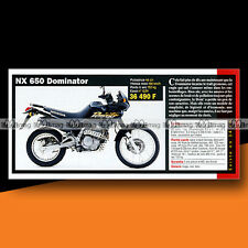 ★ HONDA NX 650 DOMINATOR ★ 2000 Article Fiche Présentation Moto #c1188
