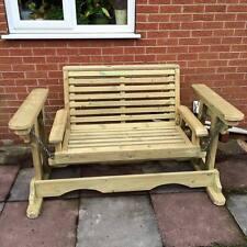 NEW Garden Swing Glider Solid Pressure Treated Wooden Outdoor Furniture (MS101)