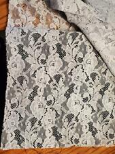 New listing Vintage/Antique 36 x40 Blue Cotton Lace